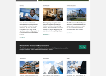 ClimateMaster Commercial Homepage