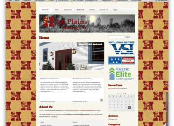 High Plains Siding Co. Homepage