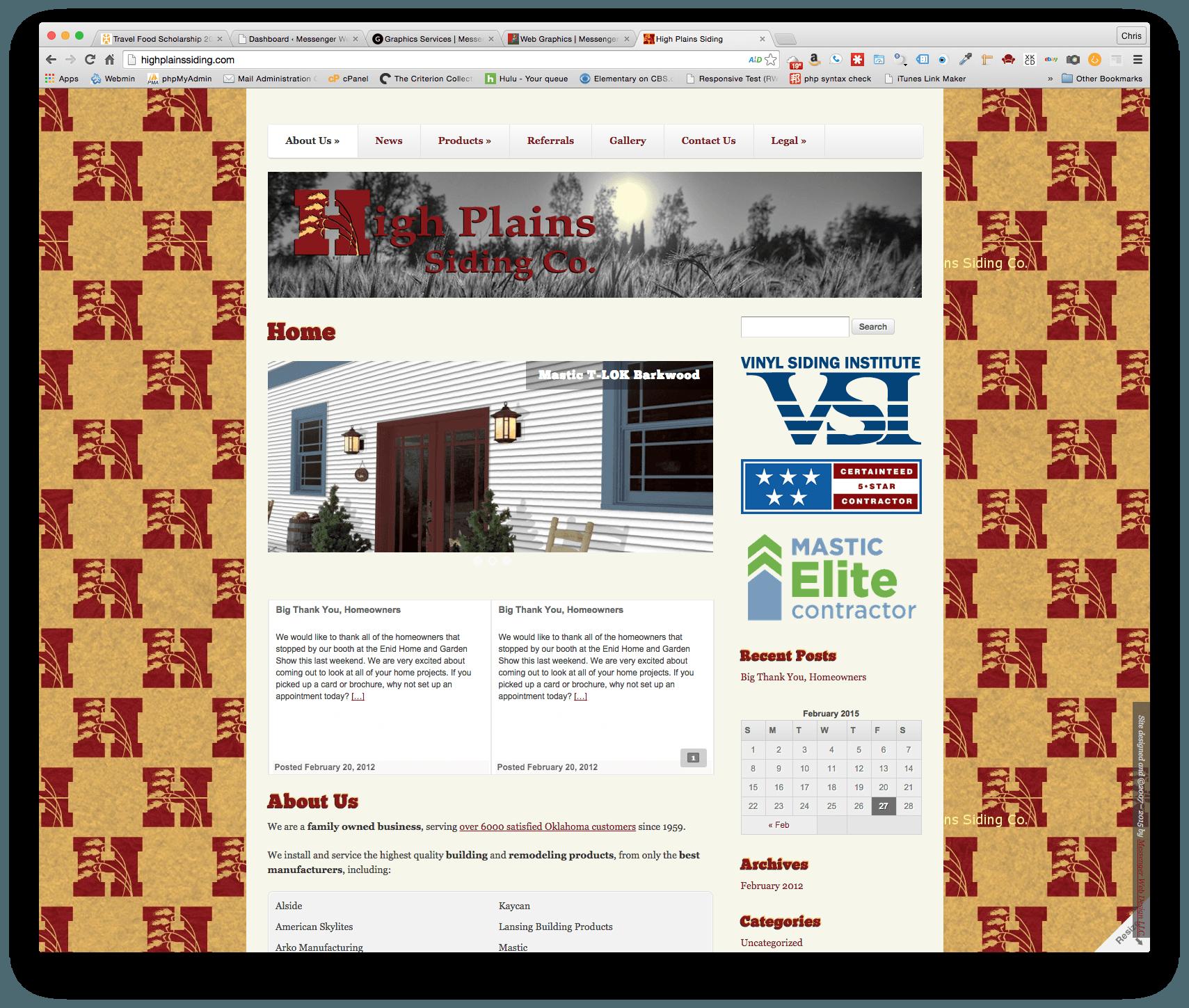 High Plains Siding Co. Homepage