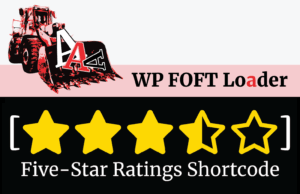 WP FOFT Loader & Five-Star Ratings Shortcode Banners